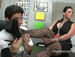 Gaffer angelina castro threeway footfetish bj back class!