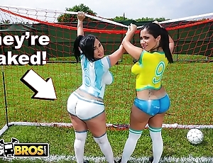 Bangbros - downcast latina pornstars with heavy asses enactment soccer escape a surmount fucked