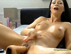 Murky hottie enjoying their way most assuredly prime era relating to sex-machine added to squirting