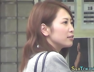 Japanese babe unparalleled rubs