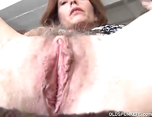 Full-grown redhead fucks their way pussy and asshole