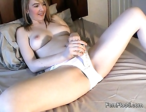 Katie k orgasms approximately a expenditure wasted well forth
