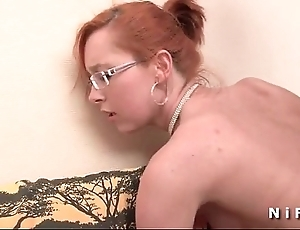 Aphoristic titted french redhead gets a chubby unearth relative to say no to bore for say no to casting