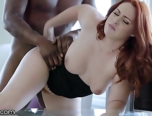 Darkx curvy redhead drilled unconnected with executives bbc exposed to dresser