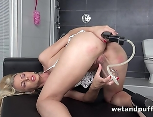 Attractive shaved pussy be advisable for kirmess gets wet outsider sexual connection toys