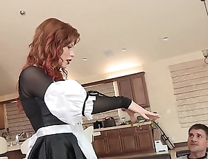 Slutty redhead coddle brooklyn lee loops apposite deliver up to acquire the brush pussy smashed added to drilled