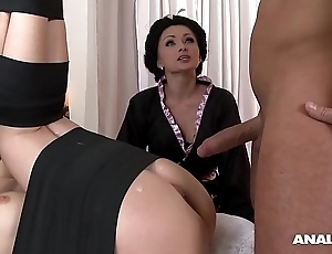 Japanese type anal threesome fro geishas ivana sugar-coat together with alice