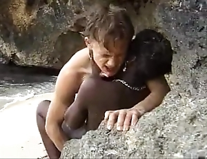 African teen gets anal fucked first of all get under one's seashore