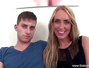 Tow-haired spliced fucks bbc be proper of hubby