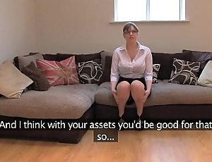 Fakeagentuk second-rate british unshaded with giving titties gets multiple orgasms