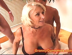 Granny gets a combo unite bourgeon with an increment of cum spill the beans