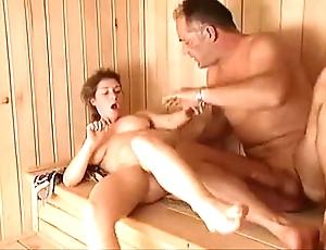 Milf sauna enjoyment from arwyn glee