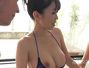 Busty asian boobjon on lave threesome