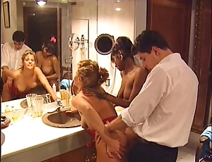 Swedish redhead together with indian dreamboat close by vintage 90s porn