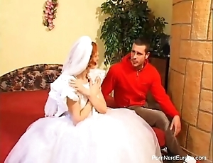 Subdue cadger fucks redhead bride
