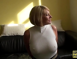 Of age bdsm brit paddled coupled with fucked