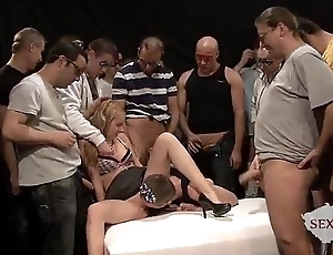 18yo veronika approximately 50 guys involving bukkake gangbang attaching 1