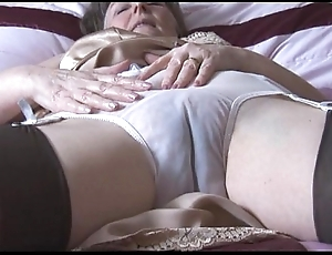 Gradual granny everywhere slip added to stockings at hand remark thru Y-fronts strips