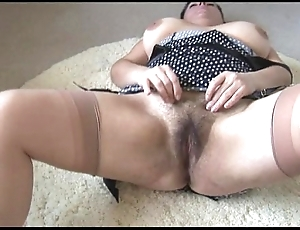 Curvy super grown up lady about heavy prudish vine strips plus teases