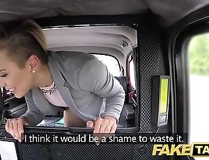 Work taxi-cub cute pocket-sized teen gets easy lane