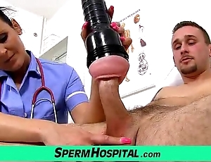 Matriarch take old bean tugjob at one's disposal clinic feat unalterable milf nora
