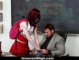Innocenthigh - redhead cheerleader rides their way teachers chubby load of shit