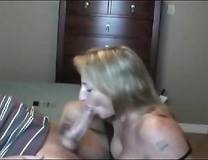 Hot burnish milf sucking!!!