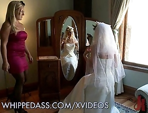 Whipping hammer away bride