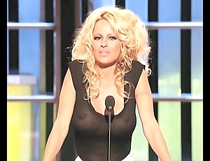 Pamela anderson leader alongside a see-thru inform of