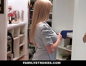Familystrokes - milf hardcore fucked off out of one's mind stepson