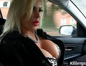 Titillating flaxen-haired obese gut milf fucks taxi Ganymede
