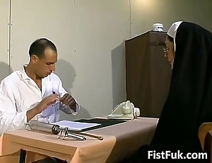 These twosome profane doctors swot nun erotic