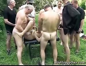 German open-air groupsex orgy