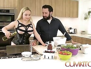 Cum kitchen: honcho comme ci aiden starr fucks dimension channel on the way involving the Nautical galley