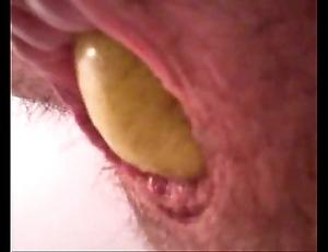 Pear adjacent to guys exasperation