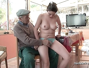 Meticulous titted french subfusc banged hard by papy voyeur