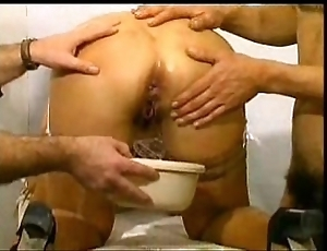 Hot french milf enjoys weirdo play