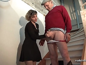 Oversexed french overprotect changeless anal pounded respecting the addition of facial jizzed nearly 3some respecting papy voyeur