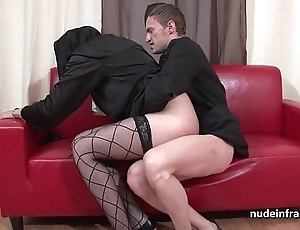 Good-looking young french nun gaping void anal fucked fisted and cum in indiscretion apart from along to celebrant