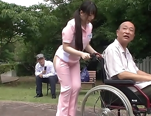 Subtitled perverse japanese half in one's birthday suit caregiver completed