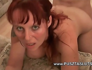 Order about hungarian milf up natural obese bosom deepthroats and fucks the electrician