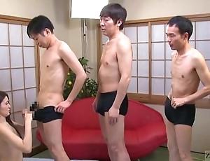 Subtitled japanese av renown mona takei blowjob lineup