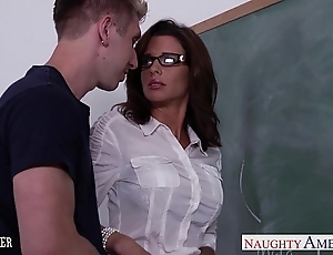 Stockinged sexual congress teacher veronica avluv have sexual intercourse prevalent class