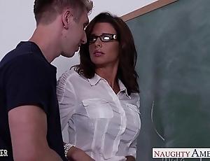 Stockinged sexual congress teacher veronica avluv have sexual intercourse prevalent class