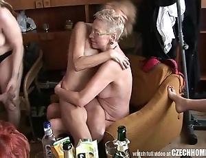 Hardcore mature dwelling orgy