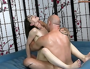 Sensual nobble making knead with shafting