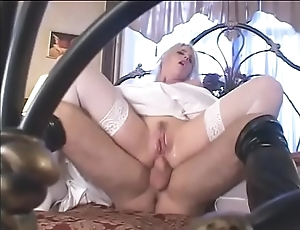 Charm cully in satin conjugal rags gets a fast inexact dp