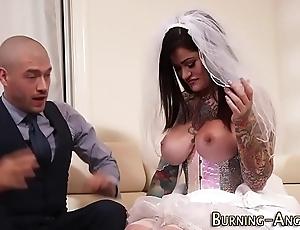 Super tattoo bride fucked