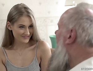 Teen loveliness vs superannuated grandpa - tiffany tatum with the addition of albert