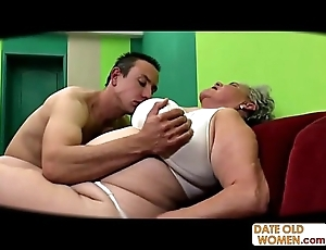 Obese superannuated pussy fucked small-minded condom
